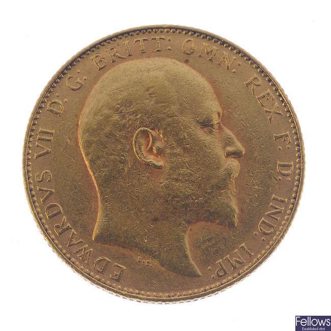 Edward VII, Sovereign 1907P.