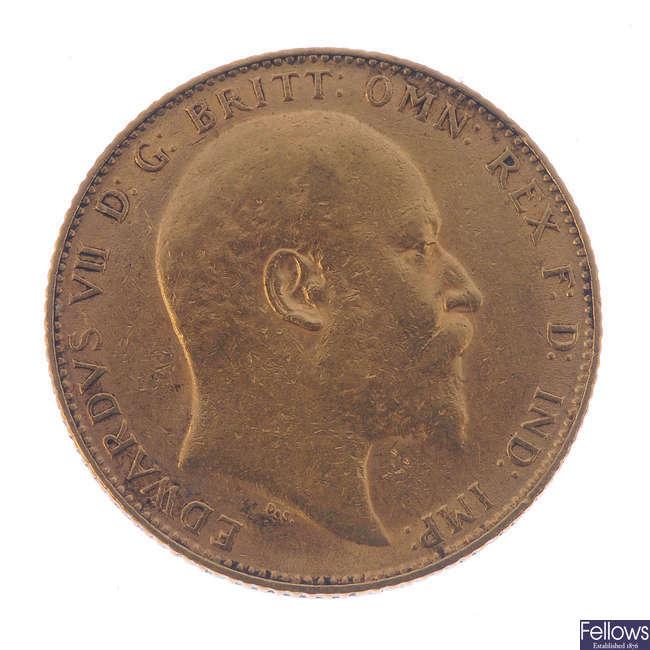Edward VII, Sovereign 1908.