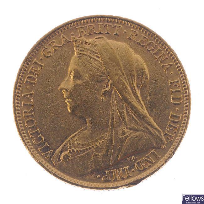 Victoria, Sovereign 1900M.