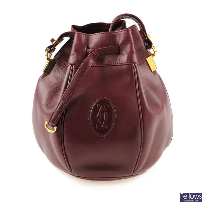 CARTIER - a Must De Cartier Tulip bucket bag
