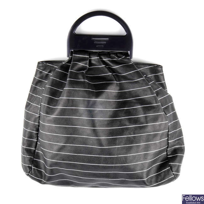 EMPORIO ARMANI - a leather tote handbag.