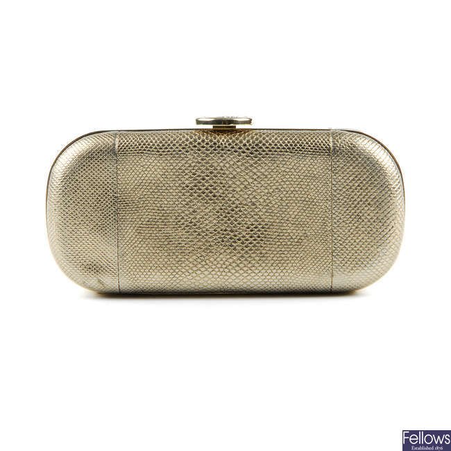 BULGARI - a bronze Monete Minaudi�re evening bag.