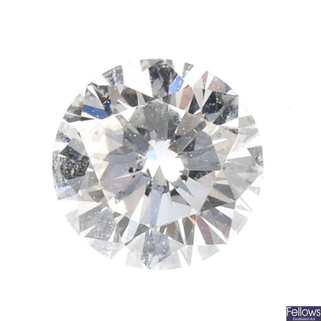 A brilliant-cut diamond, weighing 0.30ct.