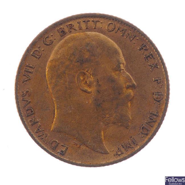 Edward VII, Half-Sovereign 1910.