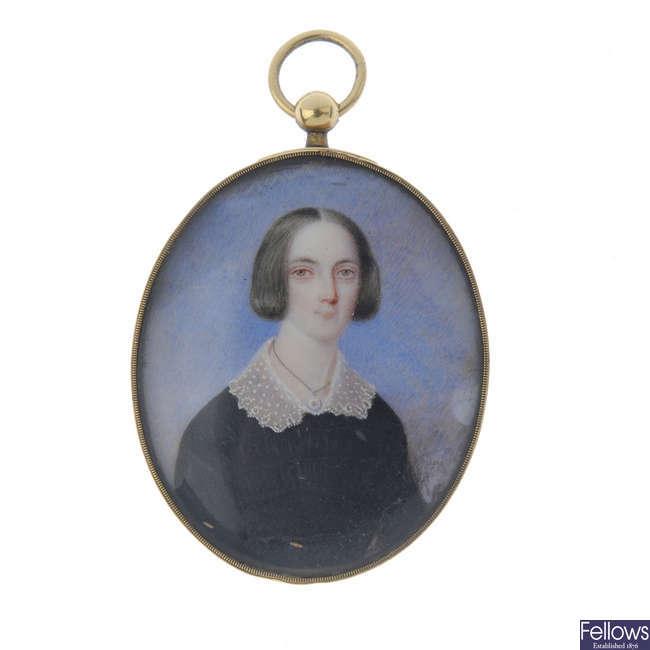 A late 19th century�portrait pendant.