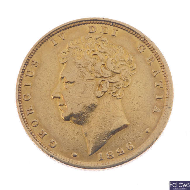 George IV, Sovereign 1826 (S 3801).