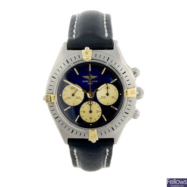 BREITLING - a mid-size stainless steel Callisto chronograph wrist watch.