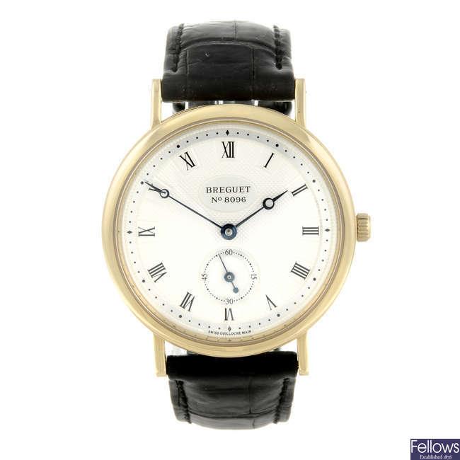 BREGUET - a gentleman's 18ct yellow gold Classique wrist watch.