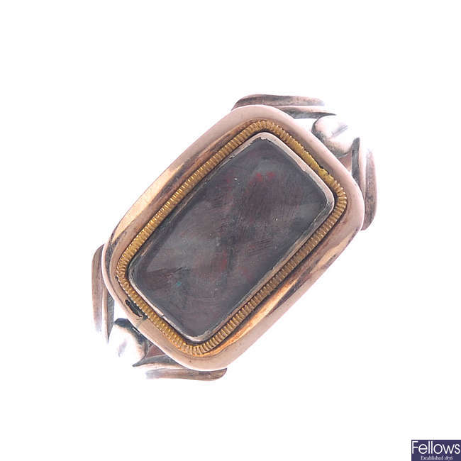 A late Victorian memorial ring.