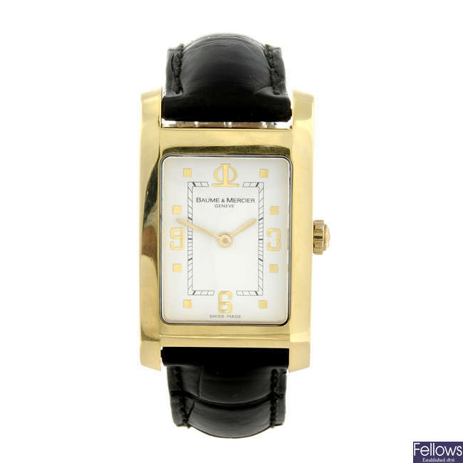 BAUME & MERCIER - a gentleman's 18ct yellow gold Hampton wrist watch.0