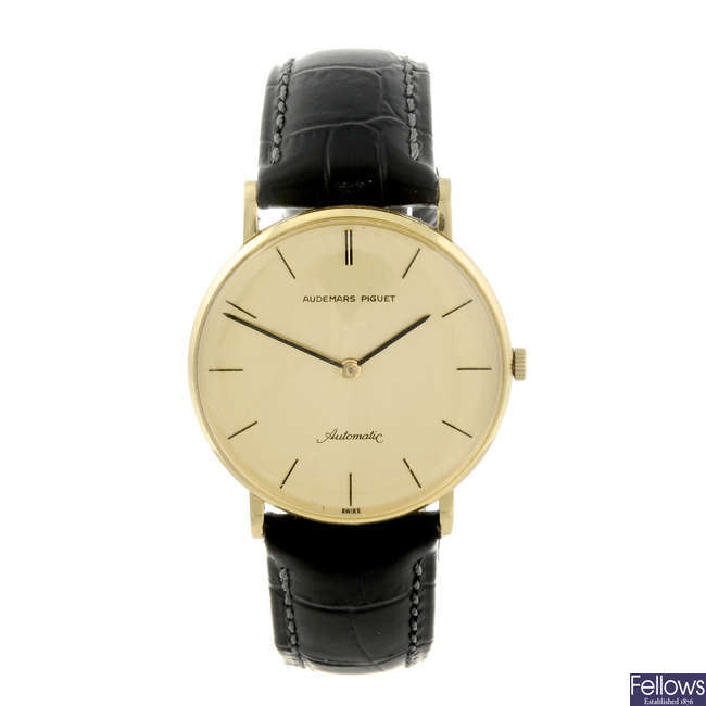 AUDEMARS PIGUET - a gentleman's 18ct yellow gold wrist watch.
