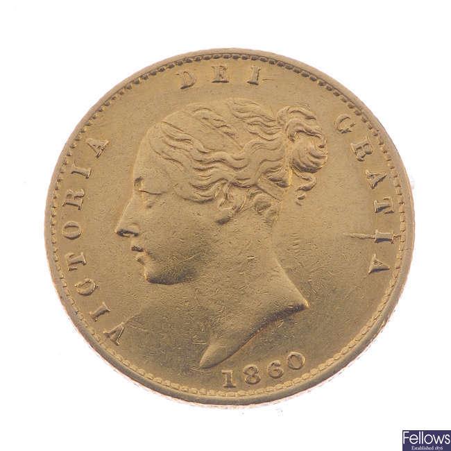 Victoria, Half-Sovereign 1860 (S 3859A).