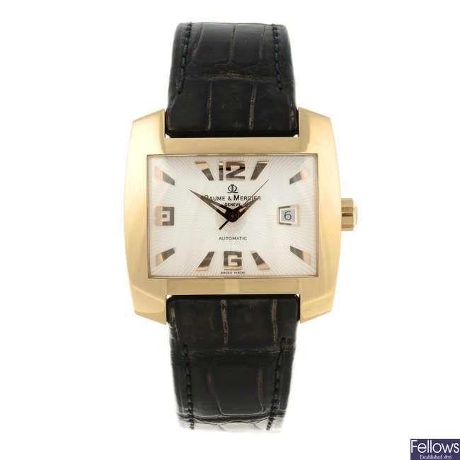 BAUME & MERCIER - a limited edition gentleman's 18ct yellow gold Hampton wrist watch.