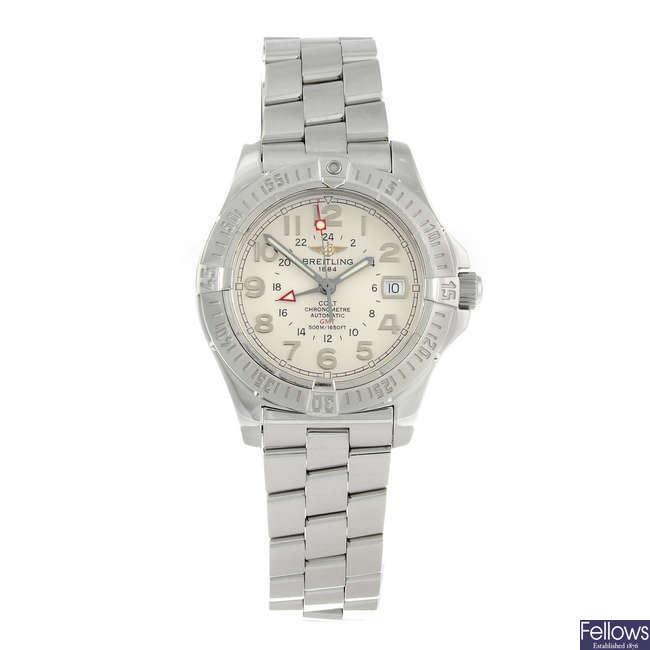 BREITLING - a gentleman's stainless steel Colt GMT bracelet watch.