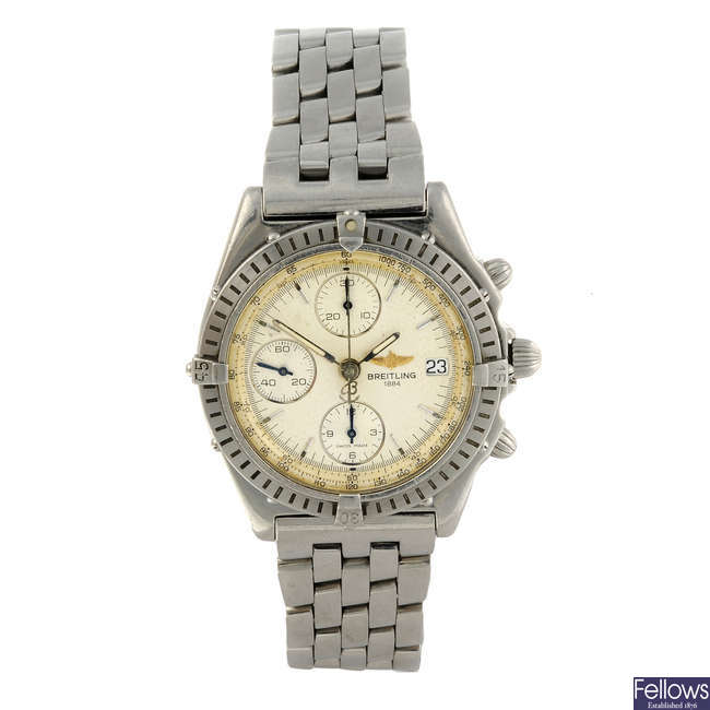 BREITLING - a gentleman's stainless steel Windrider Chronomat chronograph bracelet watch.