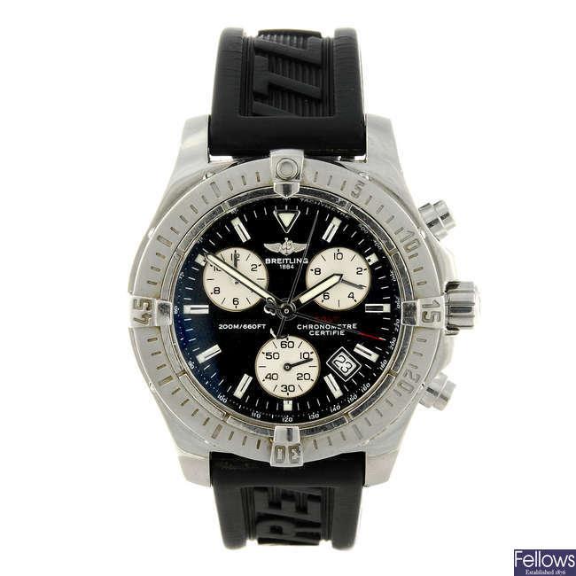 BREITLING - a gentleman's stainless steel Aeromarine Colt chronograph wrist watch.