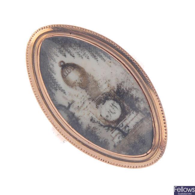 A George III memorial ring.