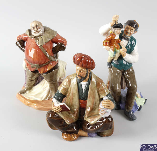 A group of Royal Doulton figurines