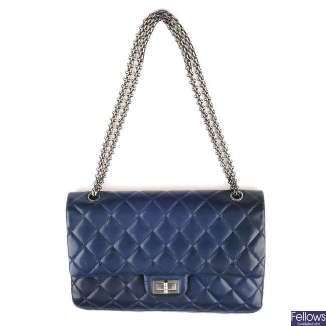 CHANEL - a blue 2.55 Reissue 227 handbag.