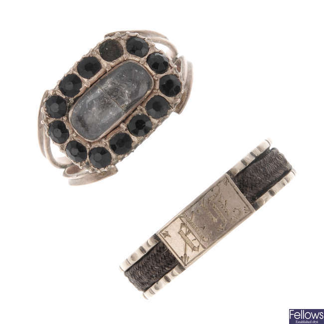 A late Georgian ring and an early Victorian ring.