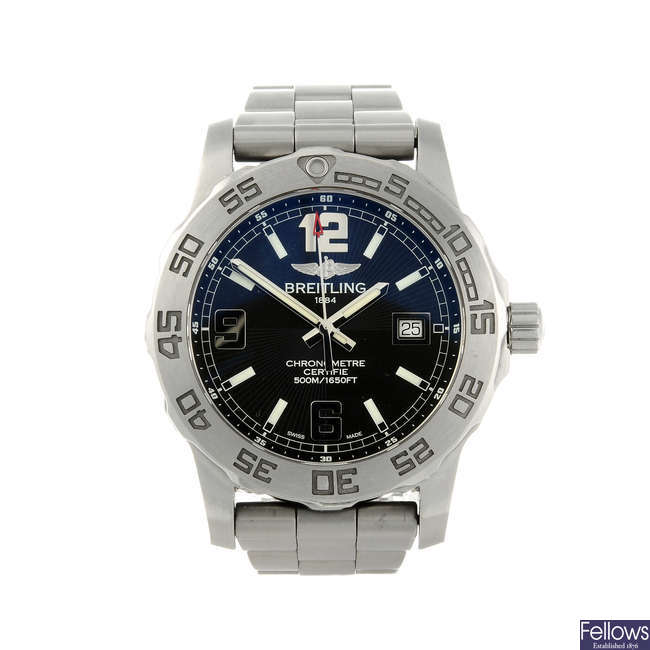 BREITLING - a gentleman's stainless steel Aeromarine Colt 44 bracelet watch.