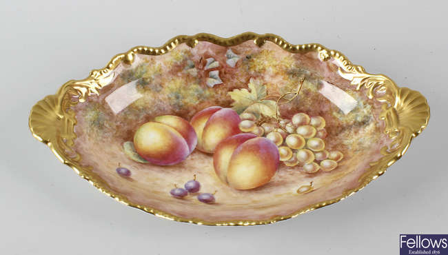 A Royal Worcester hand painted plate.