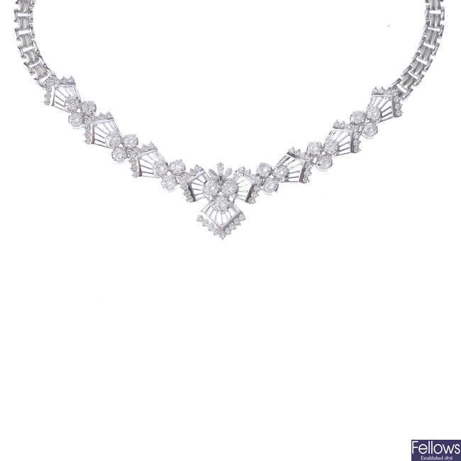 A diamond necklace.