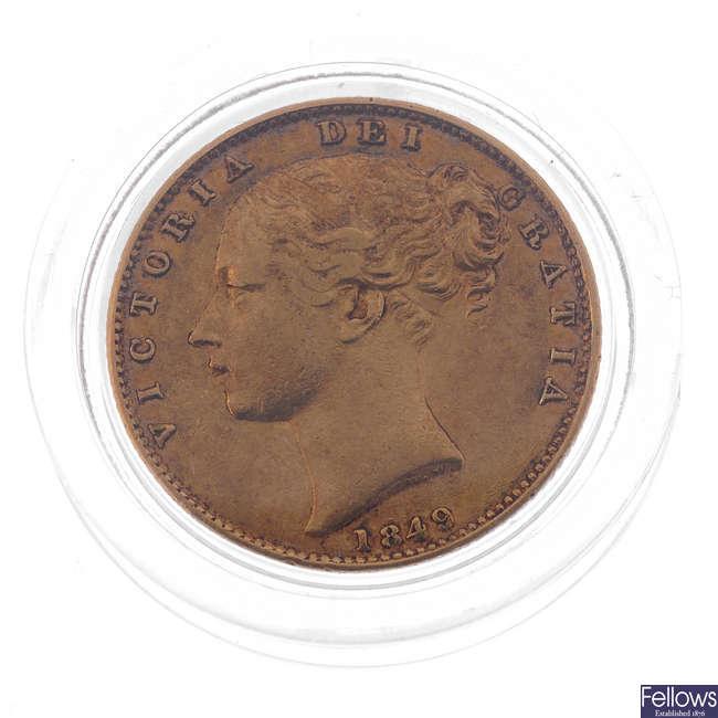 Victoria, Sovereign 1849, rev. shield (S 3852C).