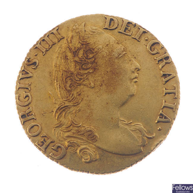 George III, Guinea 1786 (S 3728).