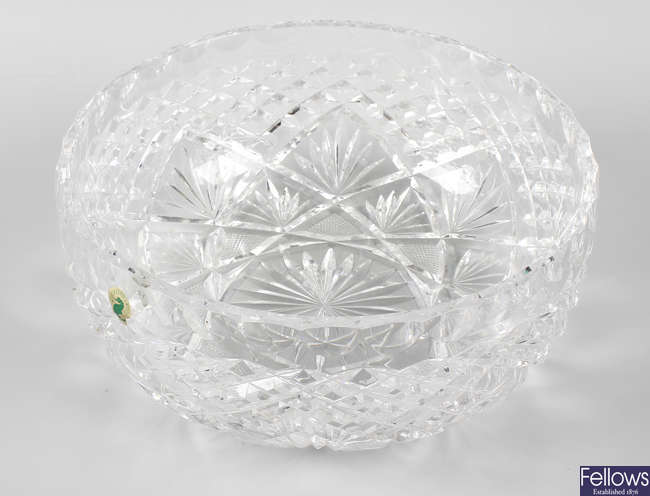 A Waterford crystal bowl.