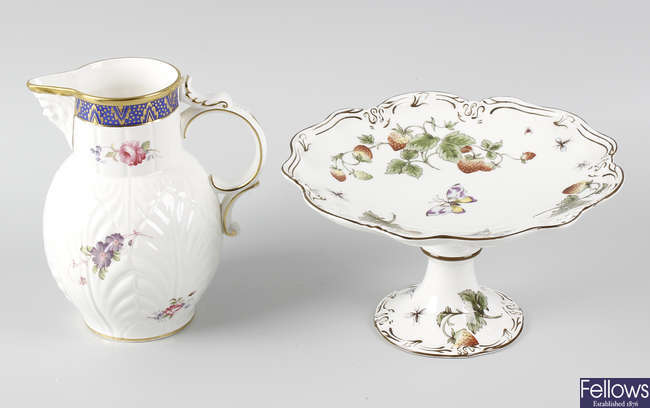 A suite of Coalport 'Strawberry' pattern tableware.