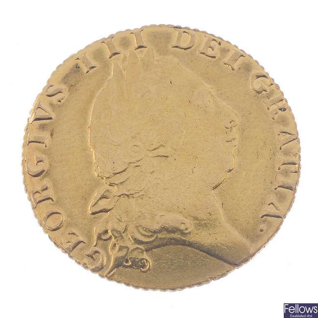 George III, spade Guinea 1793 (S 3729).