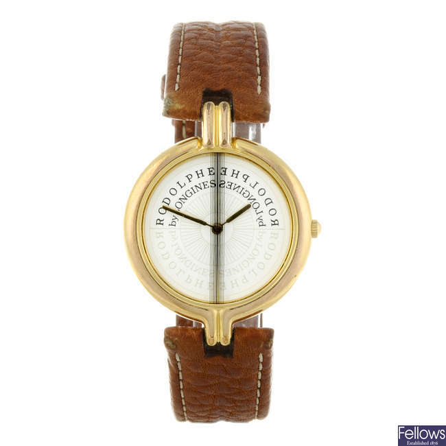 LONGINES - a gentleman's gold plated Rodolphe wrist watch.
