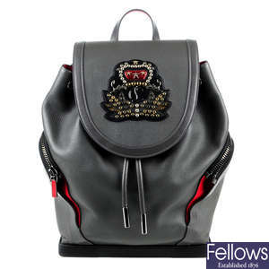 CHRISTIAN LOUBOUTIN - a Explorafunk leather backpack.
