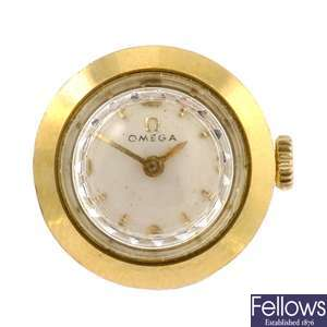 4a7ce602428 A gold plated manual wind lady s Omega wrist watch. Lot 66