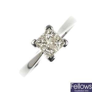 LOT:349 | A 9ct gold Masonic swivel signet ring