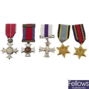 LOT:393 | Selection of twenty miniature medals, to include named