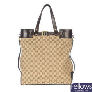 26b14a17f67 GUCCI - a GG handbag. Lot 169
