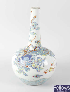 A Chinese bottle vase.